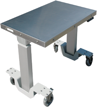Motorized lift tables companion to ErgoVu-30 and ErgoVu-60 motorized inspection booths
