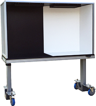 ErgoVu-60 Manual motorized inspection booth for biomedical, pharmaceutical, aerospace, and small parts